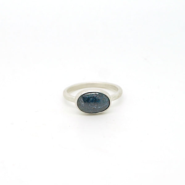Kyanite solitaire ring