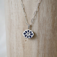 Load image into Gallery viewer, Carved Lapis Lazuli Charm Pendant Necklace