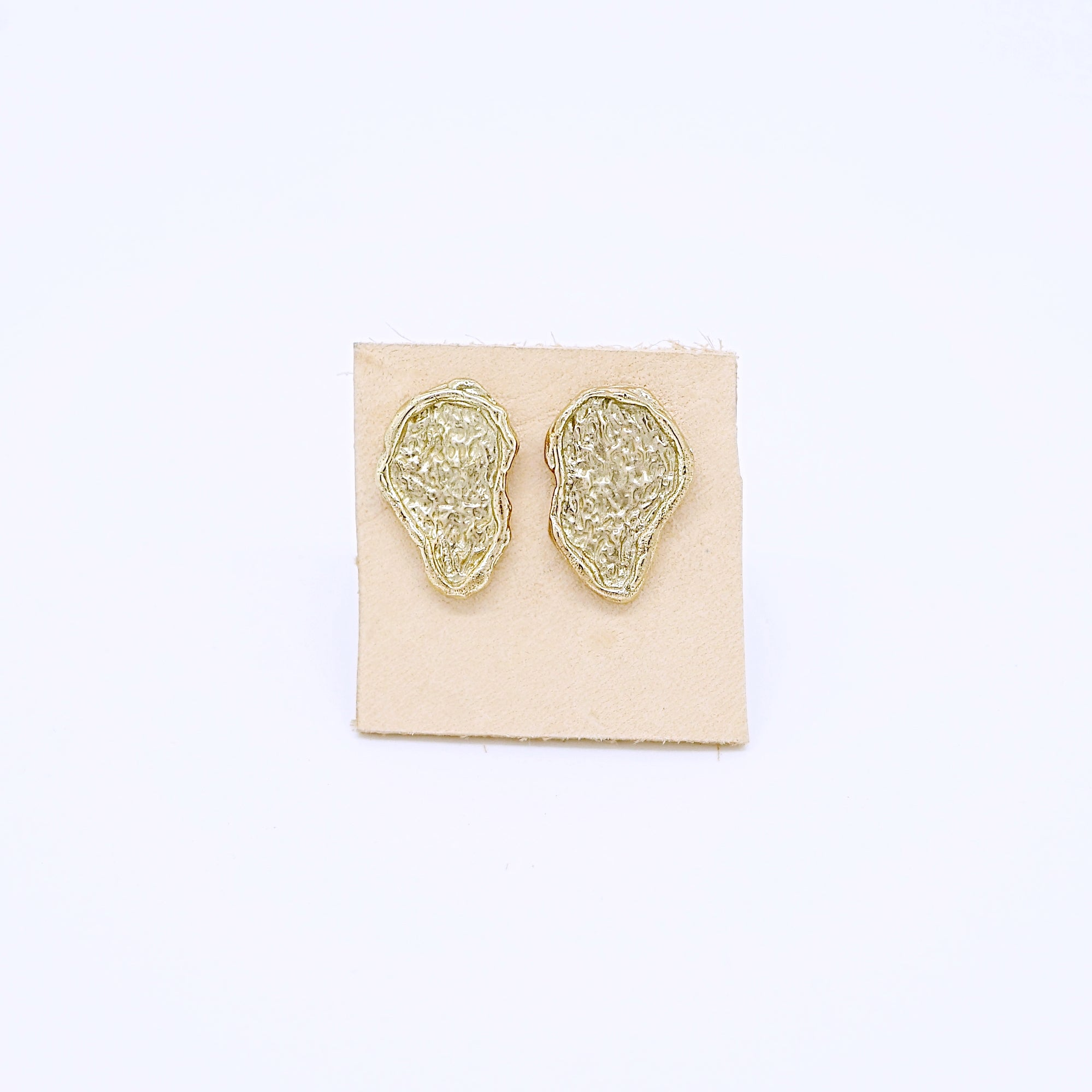 Textured Nugget Studs-gold