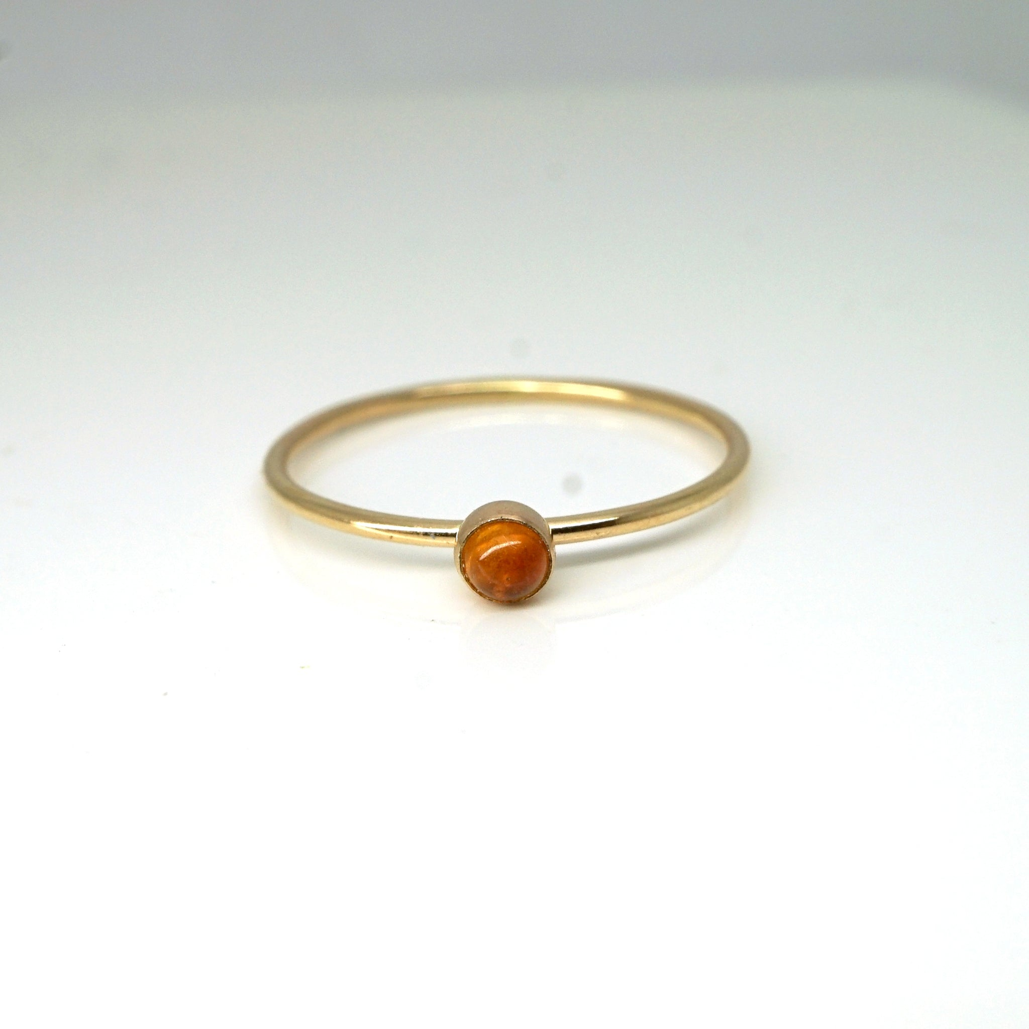 Rainbow Bezel Ring-Citrine