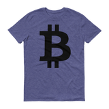 Bitcoin / BTC B T-Shirt Premium-Heather Blue- Crypto & Proud