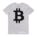 Bitcoin / BTC B T-Shirt Premium-Heather Grey- Crypto & Proud