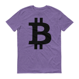 Bitcoin / BTC B T-Shirt Premium-Heather Purple- Crypto & Proud