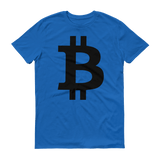 Bitcoin / BTC B T-Shirt Premium-Royal Blue- Crypto & Proud