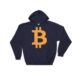 Bitcoin / BTC C Heavy Blend Hoodie-Navy- Crypto & Proud
