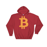 Bitcoin / BTC C Heavy Blend Hoodie-Red- Crypto & Proud