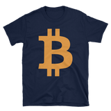 Bitcoin / BTC C Softstyle T-Shirt-Navy- Crypto & Proud