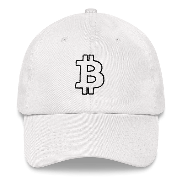Bitcoin / BTC OB Classic Hat-White- Crypto & Proud