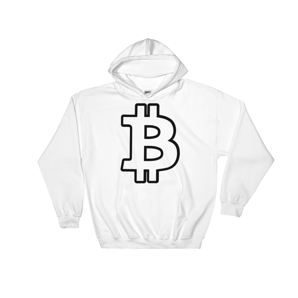 Bitcoin / BTC OB Heavy Blend Hoodie-White- Crypto & Proud
