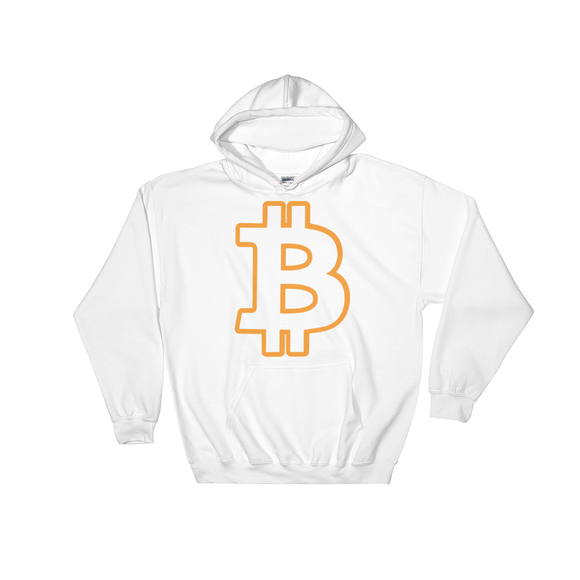 Bitcoin / BTC OC Heavy Blend Hoodie-White- Crypto & Proud