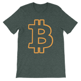 Bitcoin / BTC OC T-Shirt Premium-Heather Forest- Crypto & Proud