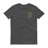 Bitcoin / BTC OSC T-Shirt Premium-Heather Dark Grey- Crypto & Proud