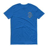 Bitcoin / BTC OSC T-Shirt Premium-Royal Blue- Crypto & Proud