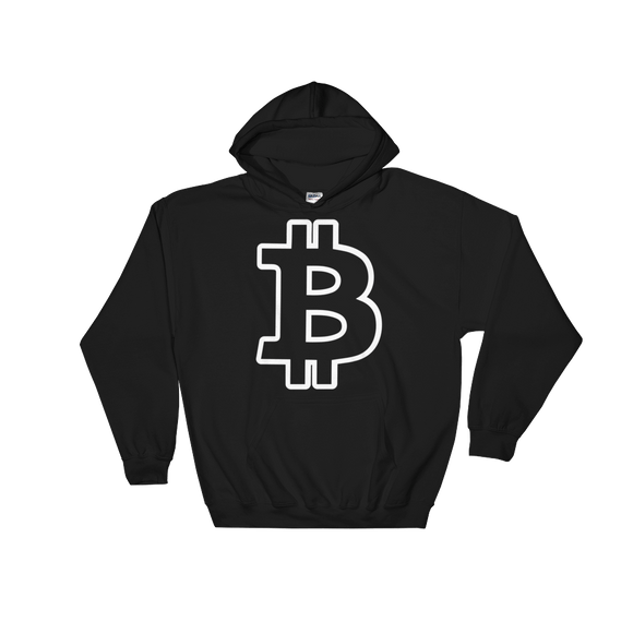 Bitcoin / BTC OW Heavy Blend Hoodie-Black- Crypto & Proud
