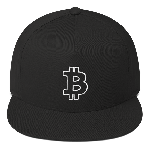 Bitcoin / BTC OW Snapback Hat-Black- Crypto & Proud