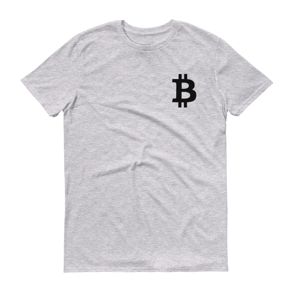 Bitcoin / BTC SB T-Shirt Premium-Heather Grey- Crypto & Proud