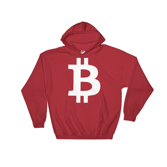 Bitcoin / BTC W Heavy Blend Hoodie-Red- Crypto & Proud