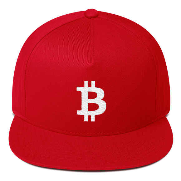 Bitcoin / BTC W Snapback Hat-Red- Crypto & Proud