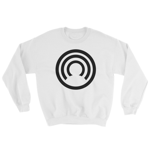 CLOAK B BL Crewneck Shirt-White- Crypto & Proud