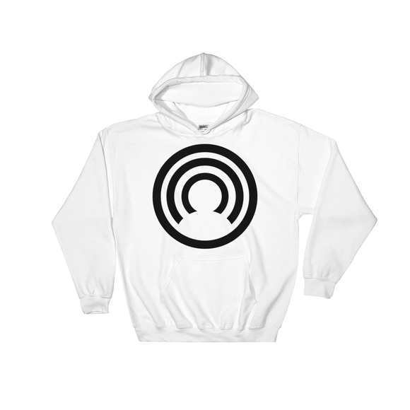 CLOAK B BL Hoodie-White- Crypto & Proud