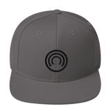 CLOAK B Snapback Wool Blend Hat-Dark Grey- Crypto & Proud