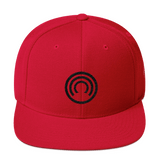 CLOAK B Snapback Wool Blend Hat-Red- Crypto & Proud
