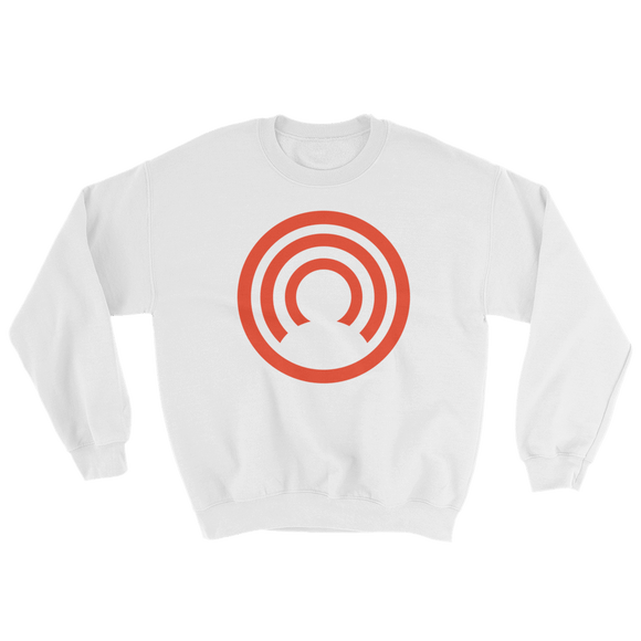 CLOAK C BL Crewneck Shirt-White- Crypto & Proud