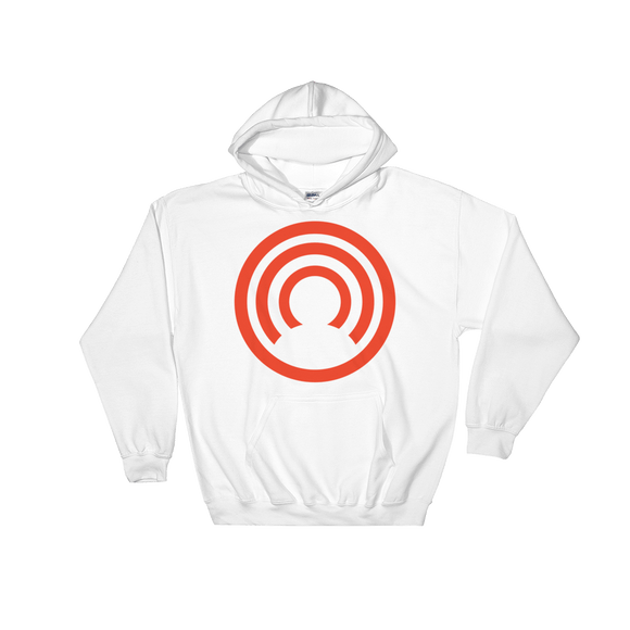 CLOAK C BL Hoodie-White- Crypto & Proud