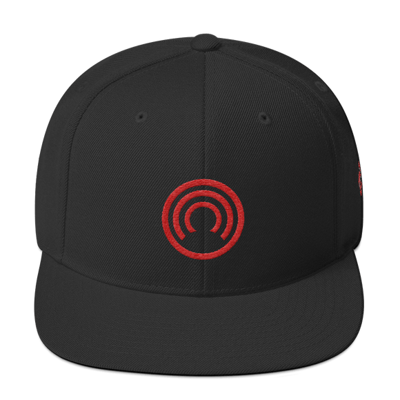 CLOAK C Snapback Wool Blend Hat-Black- Crypto & Proud