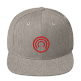 CLOAK C Snapback Wool Blend Hat-Heather Grey- Crypto & Proud
