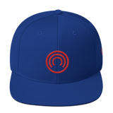 CLOAK C Snapback Wool Blend Hat-Royal Blue- Crypto & Proud