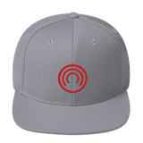 CLOAK C Snapback Wool Blend Hat-Silver- Crypto & Proud