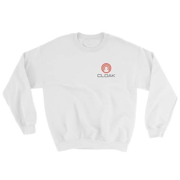CLOAK SCL Crewneck Shirt-White- Crypto & Proud