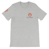 CLOAK SCLE T-Shirt Premium-Athletic Heather- Crypto & Proud
