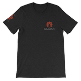 CLOAK SCLE T-Shirt Premium-Black Heather- Crypto & Proud
