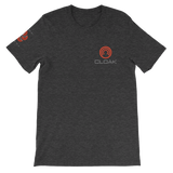 CLOAK SCLE T-Shirt Premium-Dark Grey Heather- Crypto & Proud