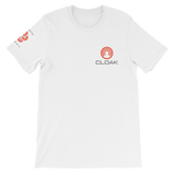 CLOAK SCLE T-Shirt Premium-White- Crypto & Proud
