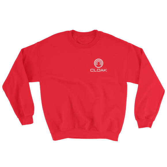 CLOAK SWL Crewneck Shirt-Red- Crypto & Proud