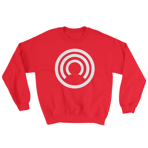 CLOAK W BL Crewneck Shirt-Red- Crypto & Proud