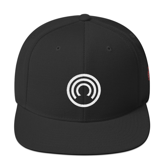 CLOAK W Snapback Wool Blend Hat-Black- Crypto & Proud