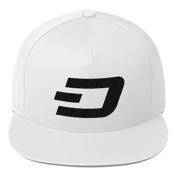 Dash / DASH B Snapback Hat-White- Crypto & Proud