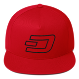 Dash / DASH OB Snapback Hat-Red- Crypto & Proud