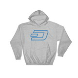 Dash / DASH OC Heavy Blend Hoodie-Sport Grey- Crypto & Proud