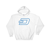 Dash / DASH OC Heavy Blend Hoodie-White- Crypto & Proud