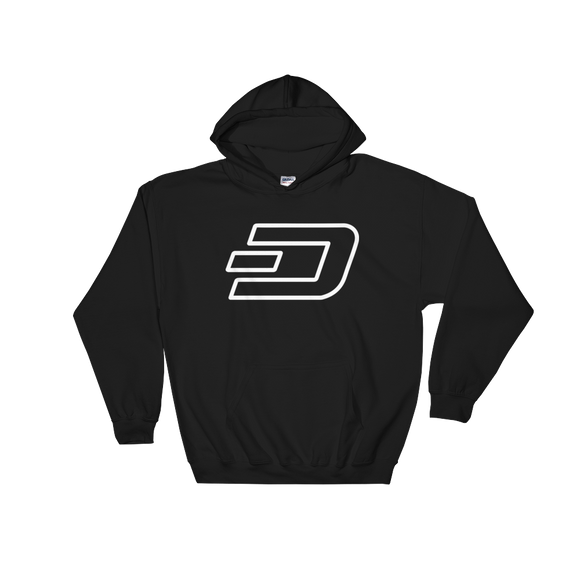 Dash / DASH OW Heavy Blend Hoodie-Black- Crypto & Proud