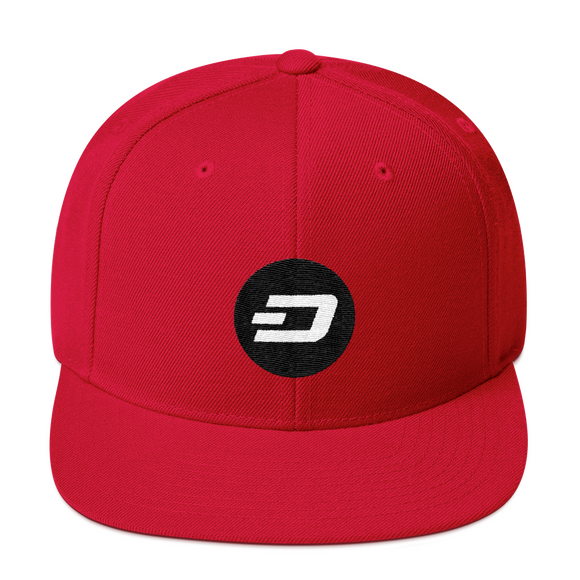 Dash / DASH RW Snapback Wool Blend Hat-Red- Crypto & Proud