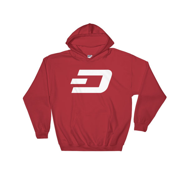 Dash / DASH W Heavy Blend Hoodie-Red- Crypto & Proud