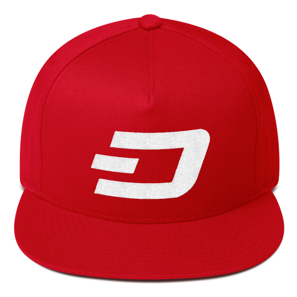 Dash / DASH W Snapback Hat-Red- Crypto & Proud