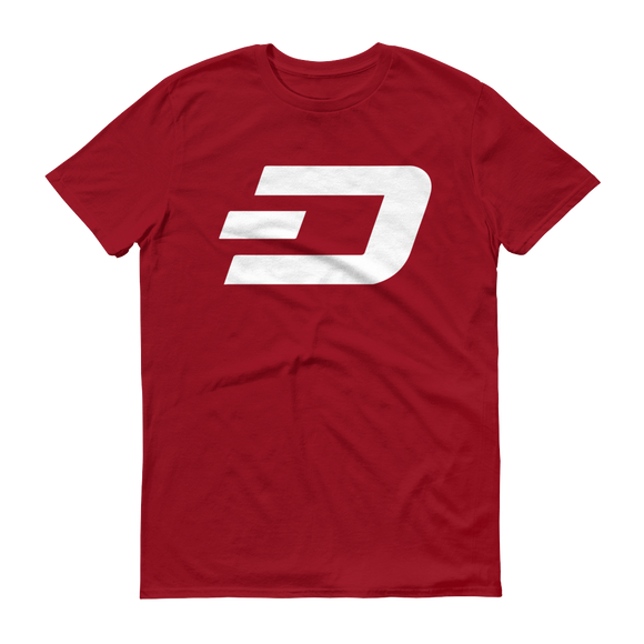 Dash / DASH W T-Shirt Premium-Independence Red- Crypto & Proud
