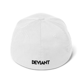 Deviant Coin / DEV BW LB Fit Cap   - Crypto & Proud